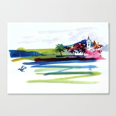 Chapel by the Tropical Inlet Canvas Print