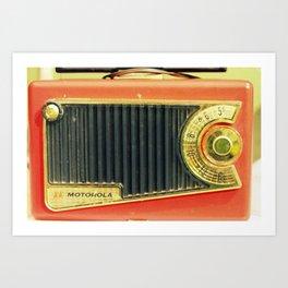 On the Radio... Art Print
