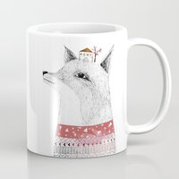 mr fox Mugs featuring Mr. Fox by missmalagata