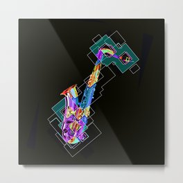 Sounds of music. Saxophone. Metal Print