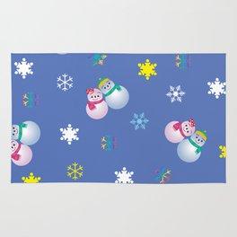 Snowflakes & Pair Snowman_C Rug