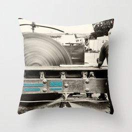 Stenner Saw Bench Throw Pillow