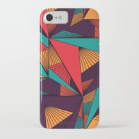 arya iPhone & iPod Cases featuring Hexagonal Lines and Triangles by Hinal Arya