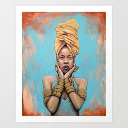 Erykah Badu Music Icon Portrait Painting RnB Tribute Art Art Print