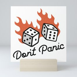 Don't Panic - Dice Mini Art Print