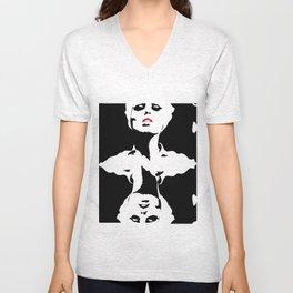 Mirrored Women Unisex V-Neck