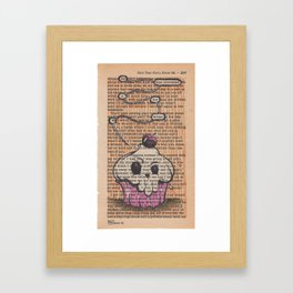 Book Page Art: the Muffin Framed Art Print