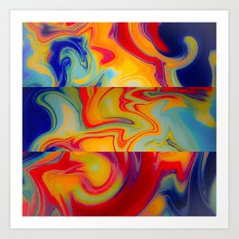 Marble Waves Art Print