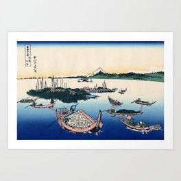 Katsushika Hokusai - 36 Views of Mount Fuji (1832) - 29: Tsukuda Island in Musashi Province Art Print