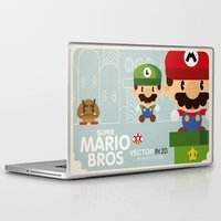 mario bros Laptop & iPad Skins featuring mario bros 2 fan art by danvinci