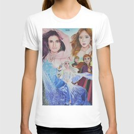 Frozen 2 x TaeYeon Colour Pencil Drawing ArtWork T-shirt