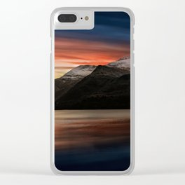 Lake Sunset Snowdonia Clear iPhone Case