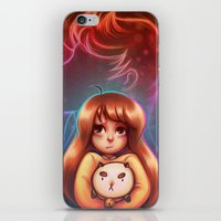 puppycat iPhone & iPod Skins featuring Bee and Puppycat by Dani Taillefer