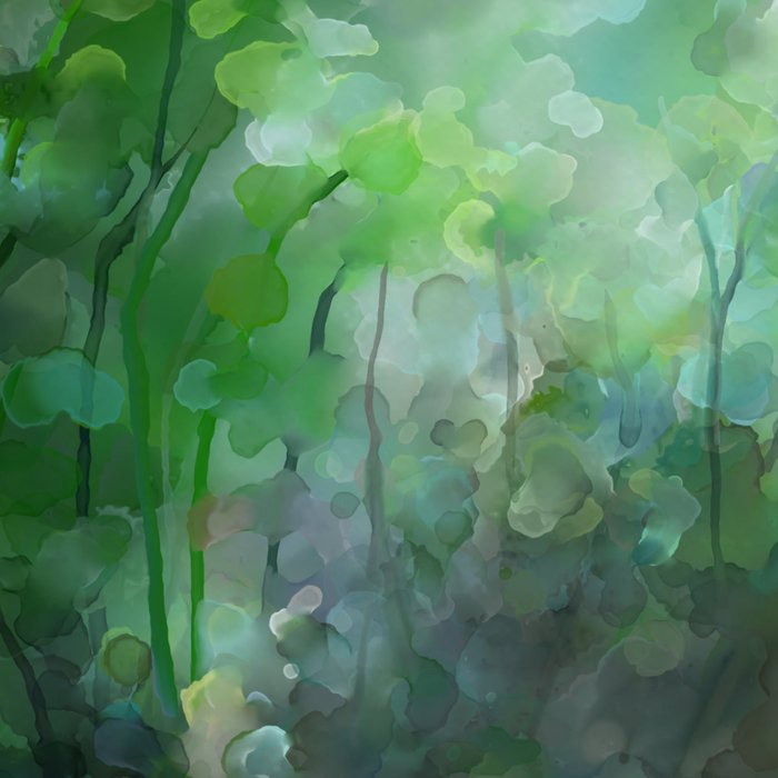 Watercolor forest Leggings