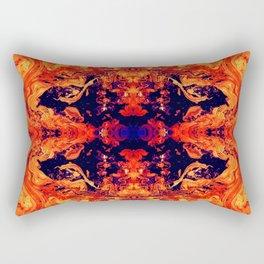 HARD RAYS Red Lava Rectangular Pillow