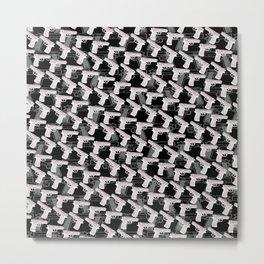 Gun Pattern Metal Print
