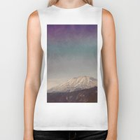 mountain Biker Tanks featuring Mountain by Leah Flores