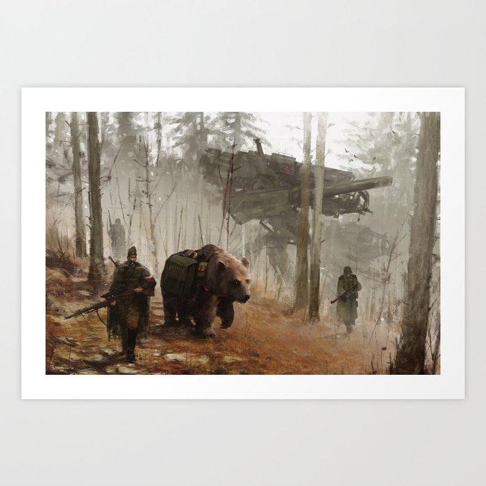 1920 - into the wild Art Print