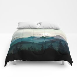 Mountain Sunrise II Comforters