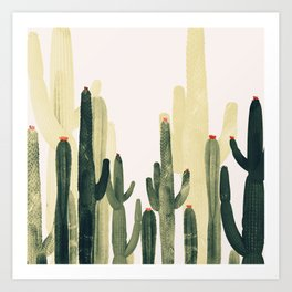 Green Cactus 4 Art Print