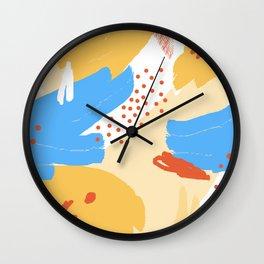 Yellow Abstraction Wall Clock