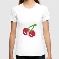8bit T-shirts featuring 8bit fruit by Vadz