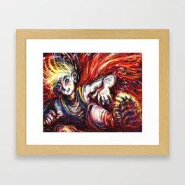 Fire Jumper Framed Art Print