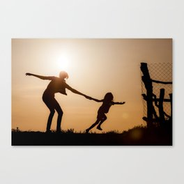 Breaking the bonds of childhood Canvas Print
