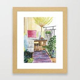 Conversation Series :: Afternoon nap Framed Art Print