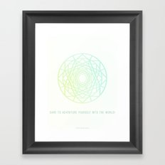 Dare to Adventure yourself Framed Art Print