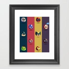 SuperHeroes Dc&Marvel Framed Art Print