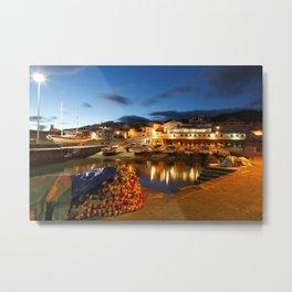 Fishing harbour Metal Print