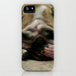 Bulldog Sleeping iPhone Case