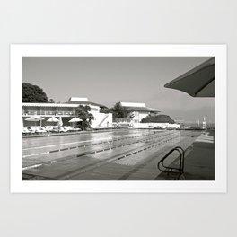 "Pools ""Coral Casio Pool"" Art Print"