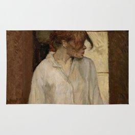 """Henri de Toulouse-Lautrec """"At Montrouge ( Rosa la Rouge)"""" Rug"""