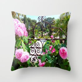 Rothschild Roses Throw Pillow