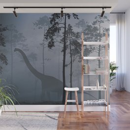 Dinosaur by Moonlight Wall Mural