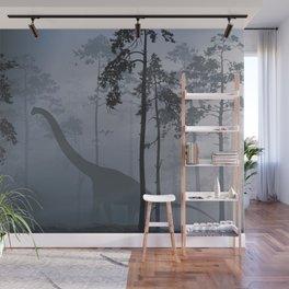 Dinosaur by Moonlight Wall Mural
