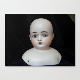 Typewriter Key Creepy Mentalembellisher Doll Canvas Print