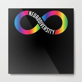 Neurodiversität Rainbow Infinity Neurodivergent Metal Print