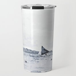 Watercolor Sailing in the Beach Travel Mug