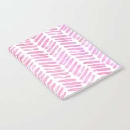 Handpainted Chevron pattern - pink and pink ;) Notebook