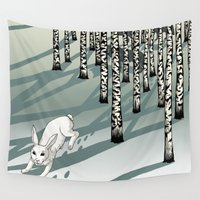 run Wall Tapestries featuring Run! by Beesants