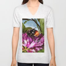 Bee on flower 9 Unisex V-Neck