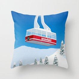 Snowbird Ski Resort Throw Pillow