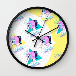Telepathic sarcasm Wall Clock