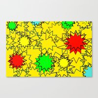 yellow pattern Canvas Prints featuring Yellow pattern  by Vivian Fortunato