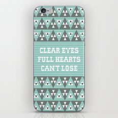Clear Eyes Full Heart Can't Lose iPhone & iPod Skin