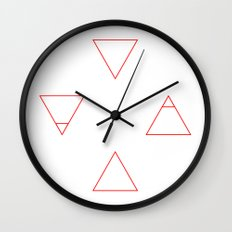 Elements (red) Wall Clock