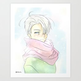 Yuri On Ice - Pastel Viktor Art Print